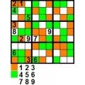 sudoku Trei culori