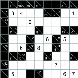 Kakuro - with digits in grid