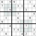 Sudoku - Regiuni pare