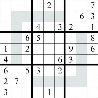 sudoku - extra regions - solution