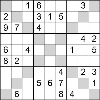 sudoku x - medium -solution