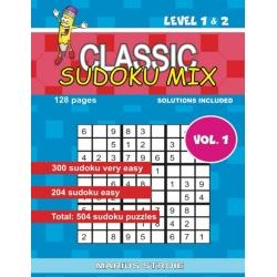 Classic Sudoku Mix - level 1 & 2, vol.1